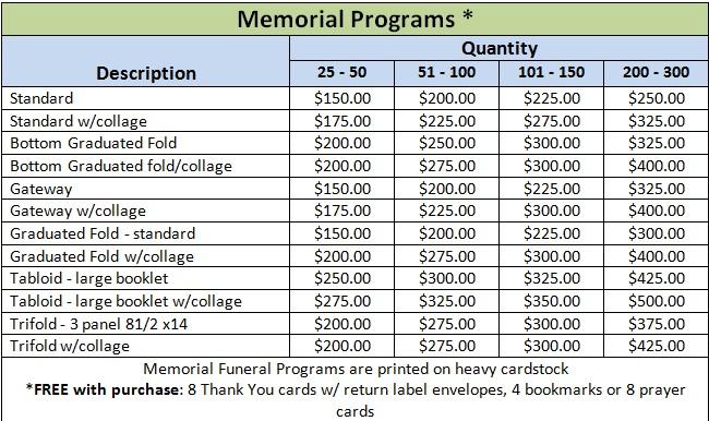 MemorialPrograms